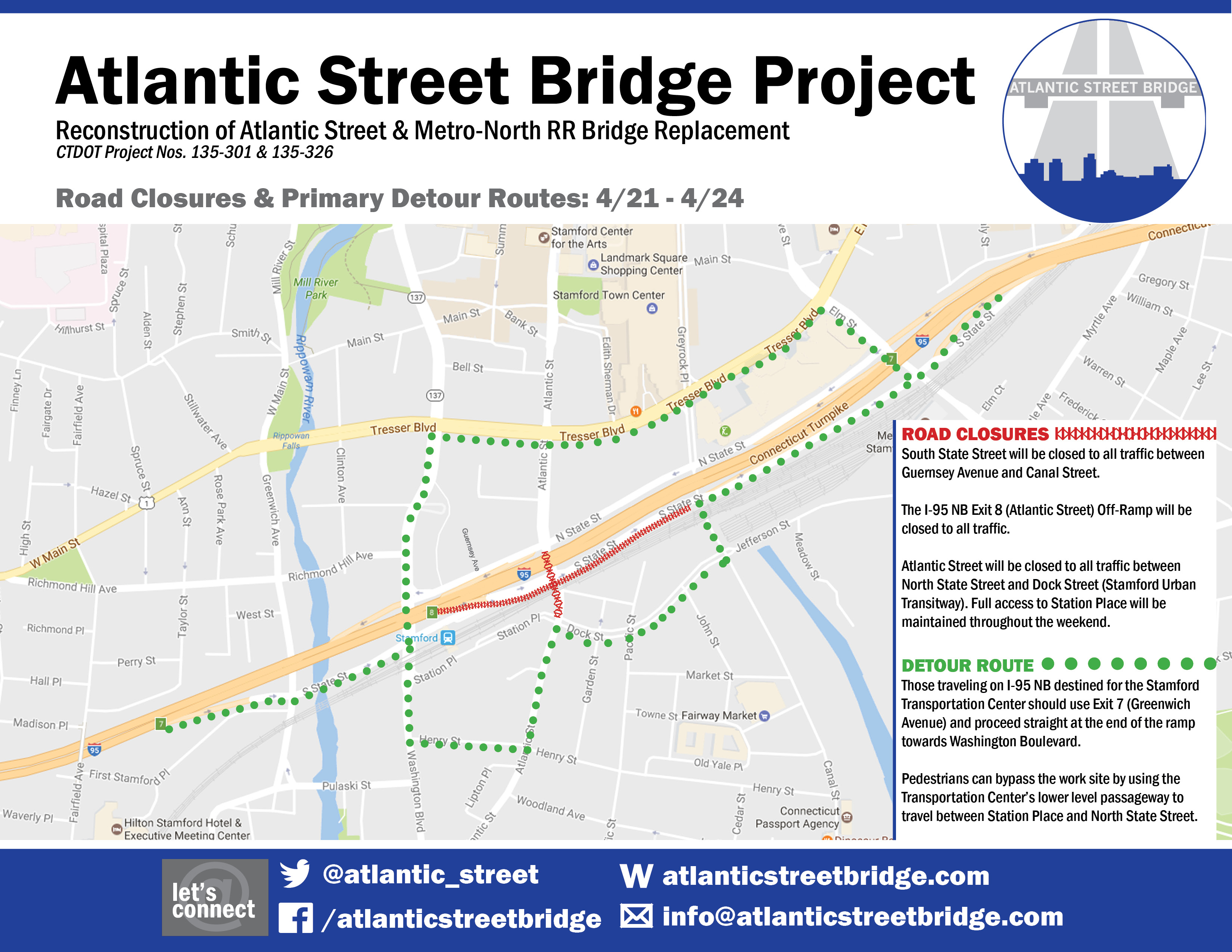 Traffic Map 95.Weekend Road Closures On South State Street Atlantic Street And The