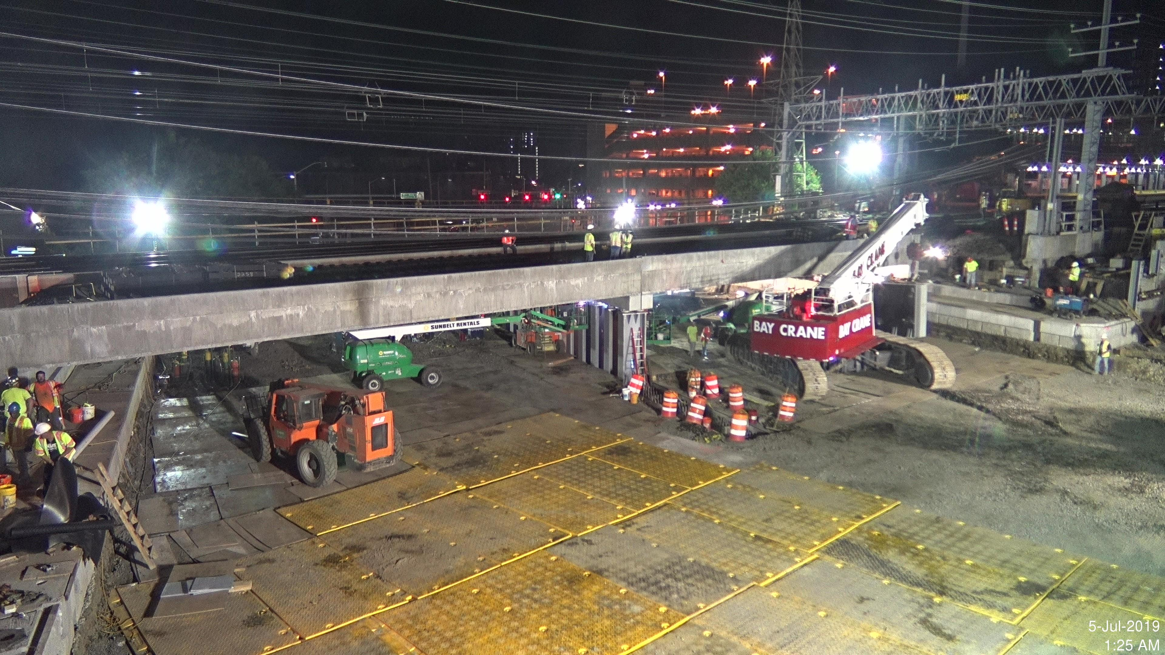 Two Additional Bridge Spans Installed For Metro North/Atlantic Street Bridge Replacement Project