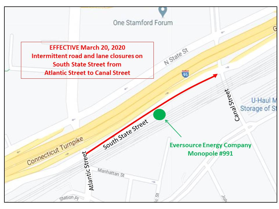 Eversource Energy Company Transmission Work Continues On South State Street